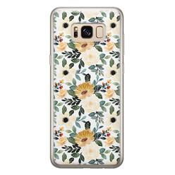 Leuke Telefoonhoesjes Samsung Galaxy S8 siliconen hoesje - Lovely flower