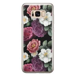 Leuke Telefoonhoesjes Samsung Galaxy S8 siliconen hoesje - Bloemenliefde
