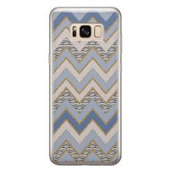 Leuke Telefoonhoesjes Samsung Galaxy S8 siliconen hoesje - Retro zigzag