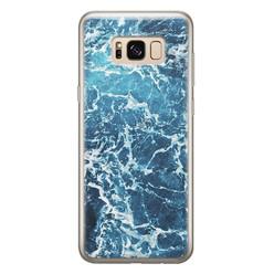 Samsung Galaxy S8 siliconen hoesje - Ocean blue