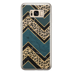 Leuke Telefoonhoesjes Samsung Galaxy S8 siliconen hoesje - Luipaard zigzag