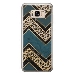 Samsung Galaxy S8 siliconen hoesje - Luipaard zigzag