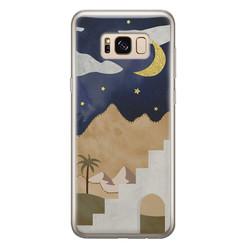 Leuke Telefoonhoesjes Samsung Galaxy S8 siliconen hoesje - Desert night