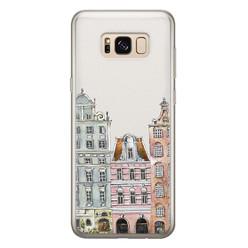 Leuke Telefoonhoesjes Samsung Galaxy S8 siliconen hoesje - Grachtenpandjes