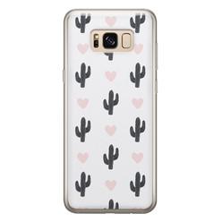 Leuke Telefoonhoesjes Samsung Galaxy S8 siliconen hoesje - Cactus love