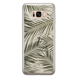 Leuke Telefoonhoesjes Samsung Galaxy S8 siliconen hoesje - Leave me alone