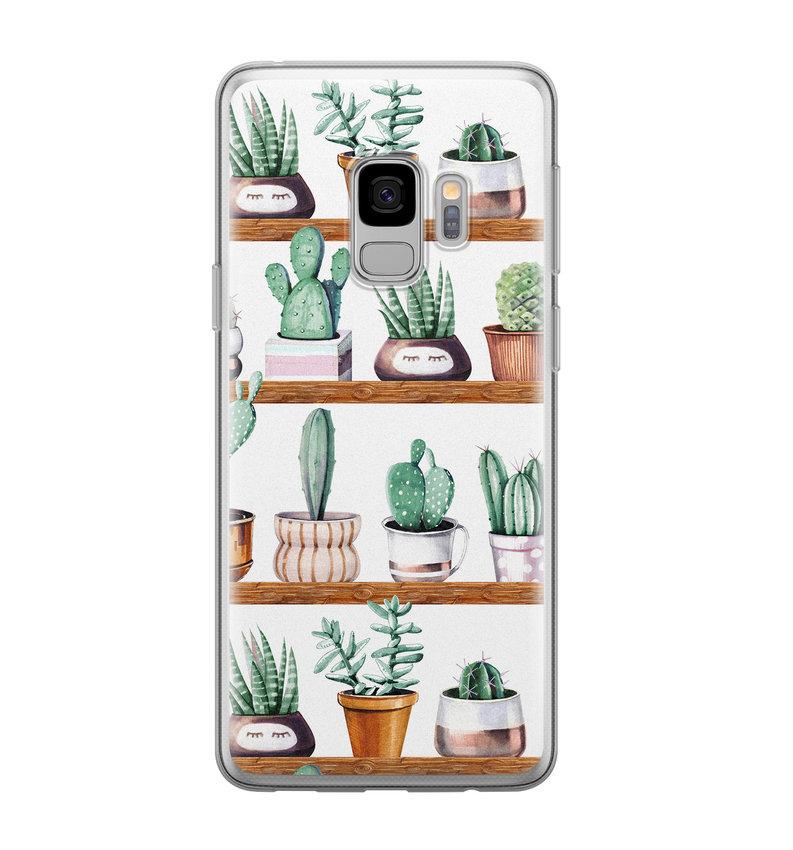 Samsung Galaxy S9 siliconen hoesje - Cactus