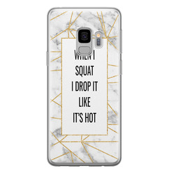 Samsung Galaxy S9 siliconen hoesje - Dropping squats