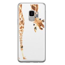 Samsung Galaxy S9 siliconen hoesje - Giraffe peekaboo