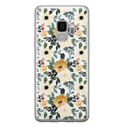 Leuke Telefoonhoesjes Samsung Galaxy S9 siliconen hoesje - Lovely flower