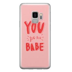 Leuke Telefoonhoesjes Samsung Galaxy S9 siliconen hoesje - You got this babe!