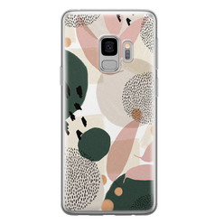 Leuke Telefoonhoesjes Samsung Galaxy S9 siliconen hoesje - Abstract print