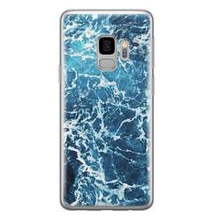 Leuke Telefoonhoesjes Samsung Galaxy S9 siliconen hoesje - Ocean blue