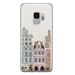 Leuke Telefoonhoesjes Samsung Galaxy S9 siliconen hoesje - Grachtenpandjes