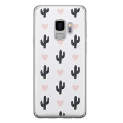 Samsung Galaxy S9 siliconen hoesje - Cactus love