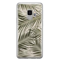 Leuke Telefoonhoesjes Samsung Galaxy S9 siliconen hoesje - Leave me alone