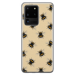 Samsung Galaxy S20 Ultra siliconen hoesje - Bee happy