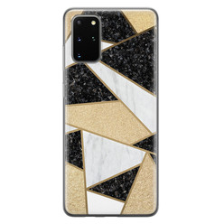 Samsung Galaxy S20 Plus siliconen hoesje - Goud abstract