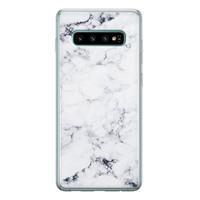 Samsung Galaxy S10 siliconen hoesje - Marmer grijs