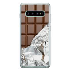 Leuke Telefoonhoesjes Samsung Galaxy S10 siliconen hoesje - Chocoladereep