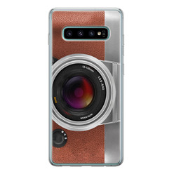 Leuke Telefoonhoesjes Samsung Galaxy S10 siliconen hoesje - Vintage camera