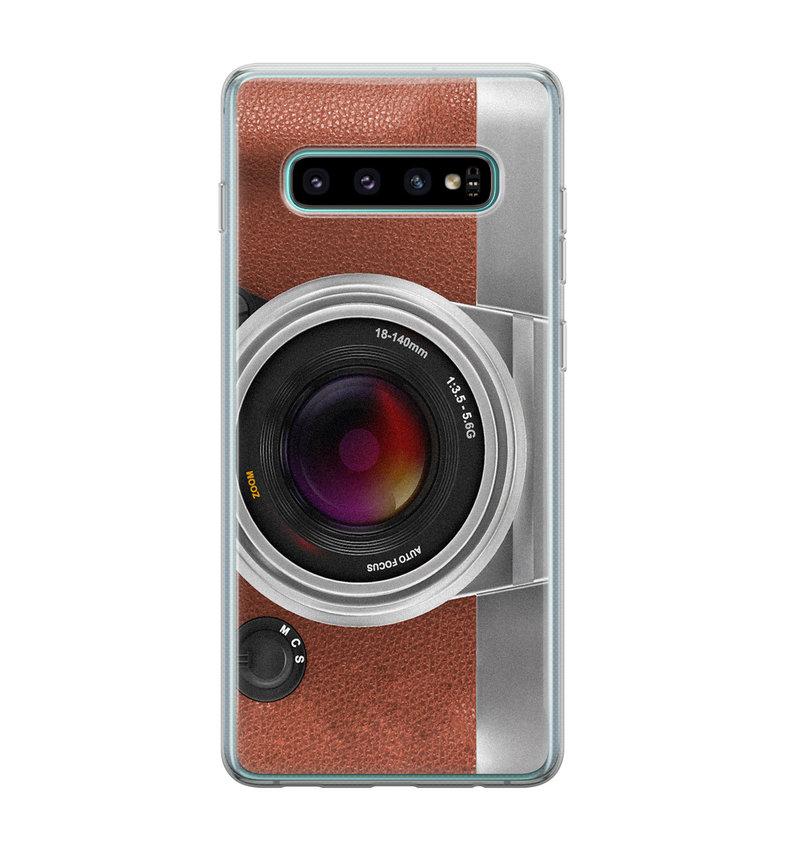 Samsung Galaxy S10 siliconen hoesje - Vintage camera