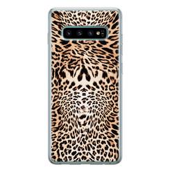Leuke Telefoonhoesjes Samsung Galaxy S10 siliconen hoesje - Wild animal