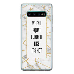 Samsung Galaxy S10 siliconen hoesje - Dropping squats