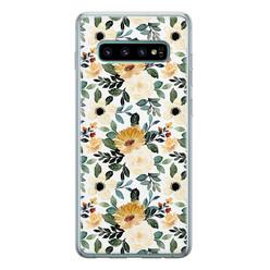 Leuke Telefoonhoesjes Samsung Galaxy S10 siliconen hoesje - Lovely flower