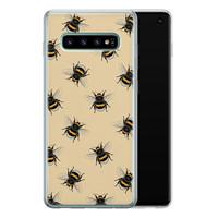 Samsung Galaxy S10 siliconen hoesje - Bee happy
