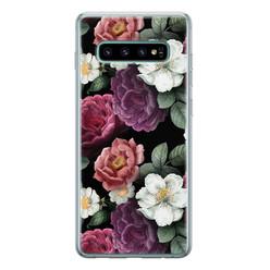 Samsung Galaxy S10 siliconen hoesje - Bloemenliefde