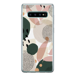 Samsung Galaxy S10 siliconen hoesje - Abstract print
