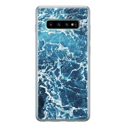 Leuke Telefoonhoesjes Samsung Galaxy S10 siliconen hoesje - Ocean blue