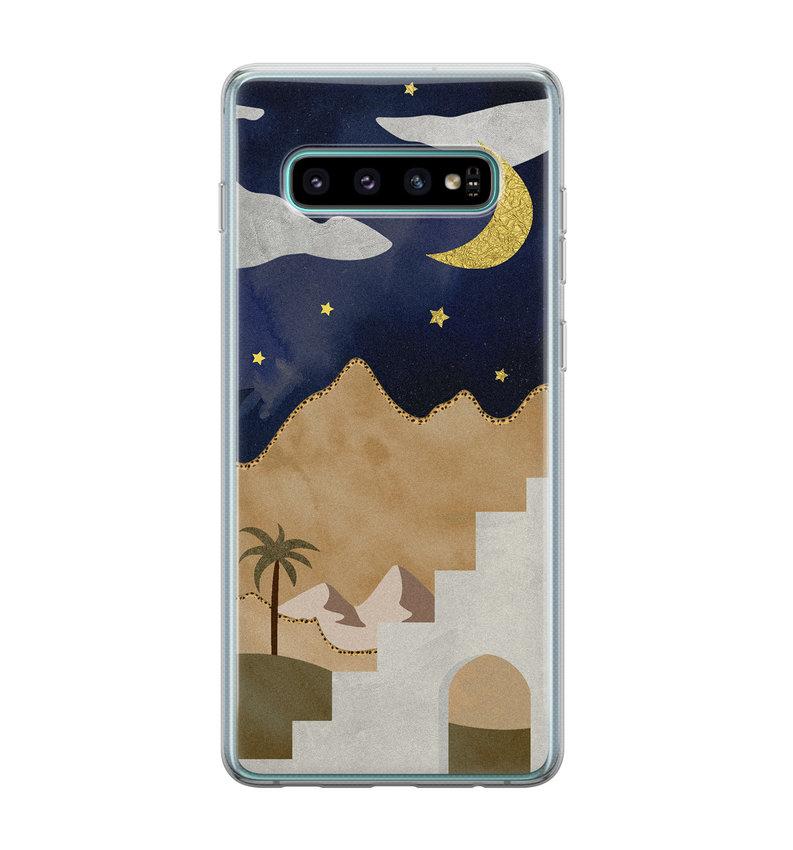 Samsung Galaxy S10 siliconen hoesje - Desert night