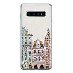 Leuke Telefoonhoesjes Samsung Galaxy S10 siliconen hoesje - Grachtenpandjes