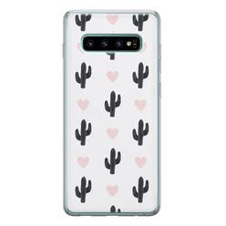 Leuke Telefoonhoesjes Samsung Galaxy S10 siliconen hoesje - Cactus love