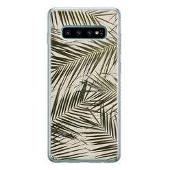 Leuke Telefoonhoesjes Samsung Galaxy S10 siliconen hoesje - Leave me alone