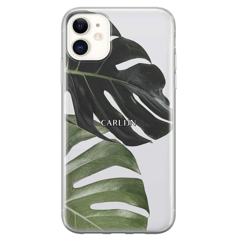 Leuke Telefoonhoesjes iPhone 11 siliconen hoesje ontwerpen - Monstera