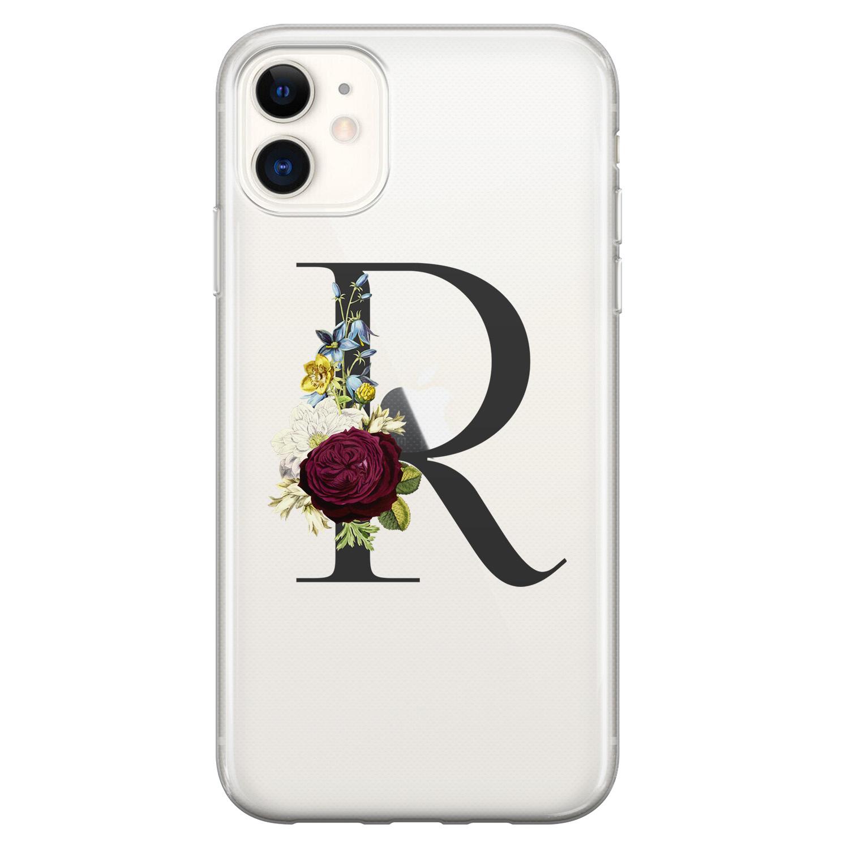 Leuke Telefoonhoesjes iPhone 11 siliconen hoesje ontwerpen - Monogram