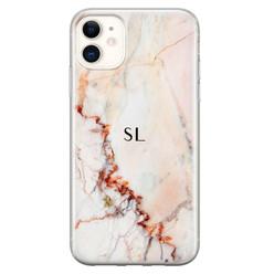Leuke Telefoonhoesjes iPhone 11 siliconen hoesje ontwerpen - Marmer luxe
