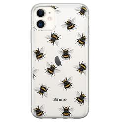 iPhone 11 siliconen hoesje ontwerpen - Happy bees