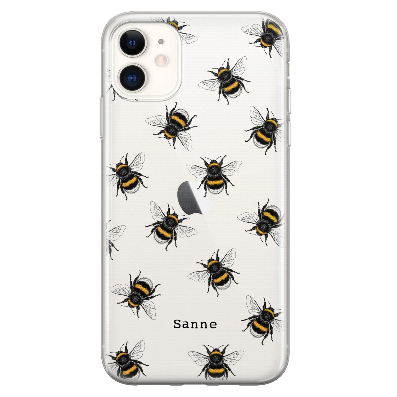 Leuke Telefoonhoesjes iPhone 11 siliconen hoesje ontwerpen - Happy bees
