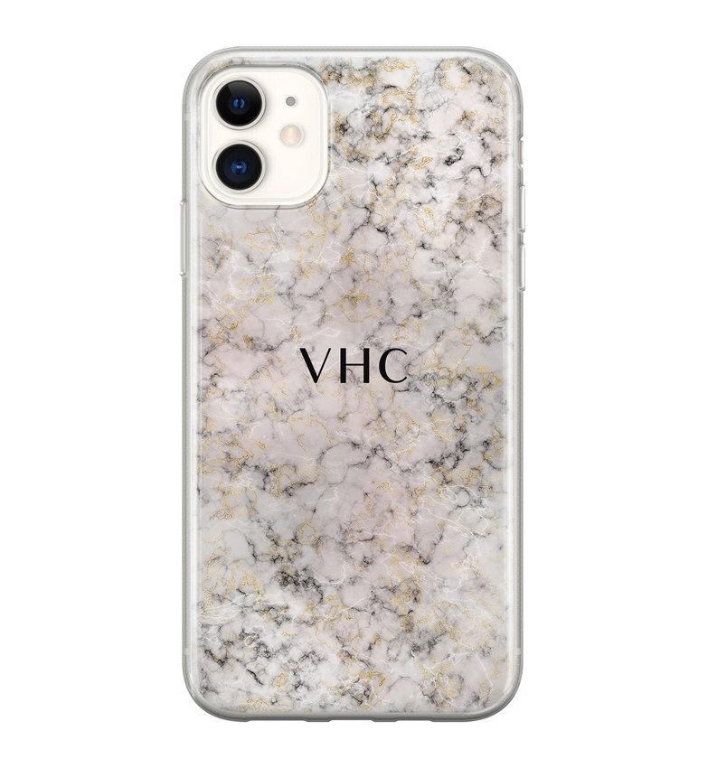 iPhone 11 siliconen hoesje ontwerpen - Marmer veins