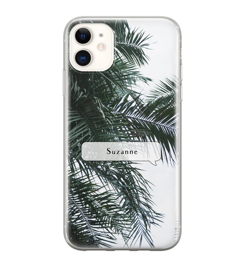 iPhone 11 siliconen hoesje ontwerpen - Palmbladeren