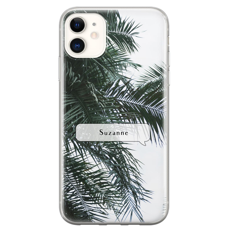 Leuke Telefoonhoesjes iPhone 11 siliconen hoesje ontwerpen - Palmbladeren