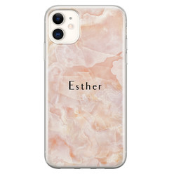 iPhone 11 siliconen hoesje ontwerpen - Marble sunkissed