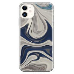 iPhone 11 siliconen hoesje ontwerpen - Marmer sand