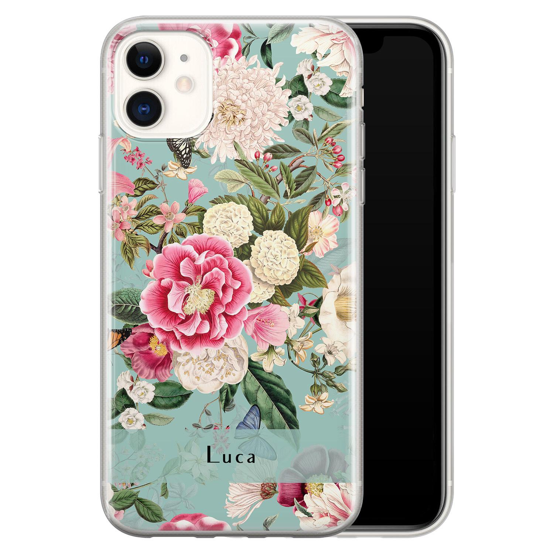 iPhone 11 siliconen hoesje ontwerpen - Blooming
