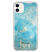 Leuke Telefoonhoesjes iPhone 11 siliconen hoesje ontwerpen - Marmer liquid