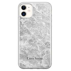 Leuke Telefoonhoesjes iPhone 11 siliconen hoesje ontwerpen - Marmer grijs